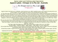 Apparel Labels's website