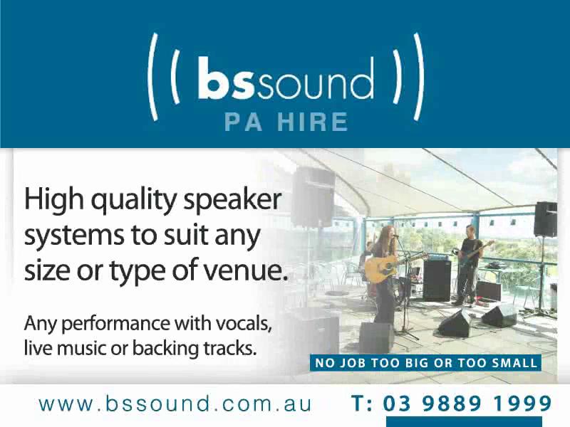B S Sound ad