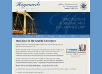 Haywards Solicitors's website