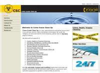 Crime Scene Clean Up's website