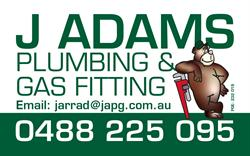 J Adams Plumbing & Gas Fitting